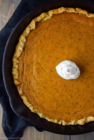 Skillet Desserts: Skillet Pumpkin Pie
