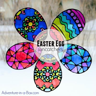 Stained Glass Easter Egg Suncatchers
