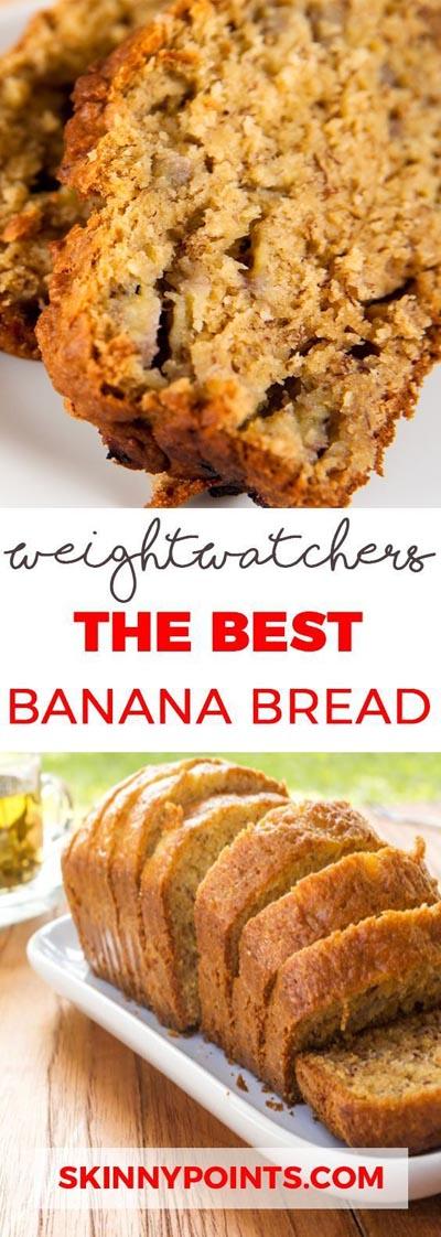 Weight watchers desserts: The Best Banana Bread