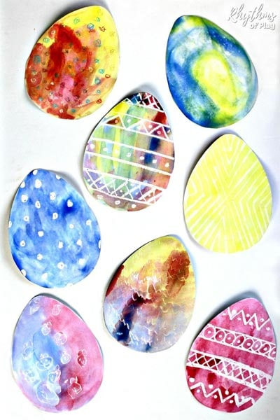 Watercolor Surprise Easter Egg Art