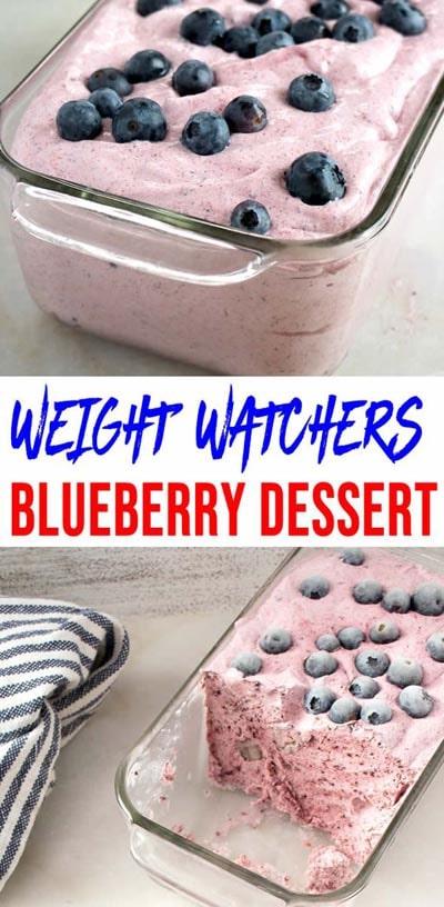 Weight Watchers Blueberry Dessert