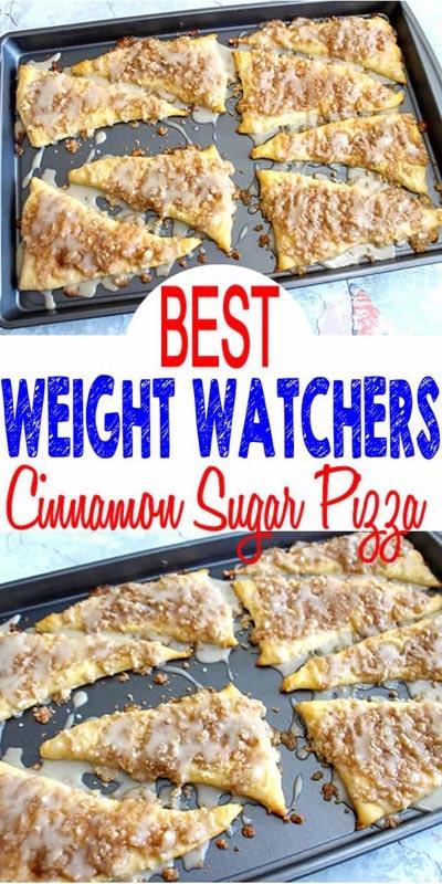 Weight Watchers Cinnamon Sugar Pizza