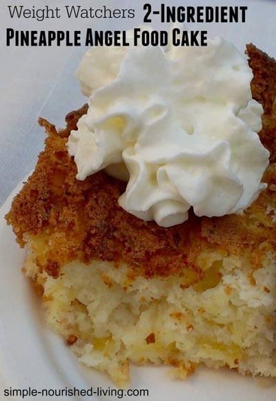 Weight Watchers Pineapple Angel Food Cake