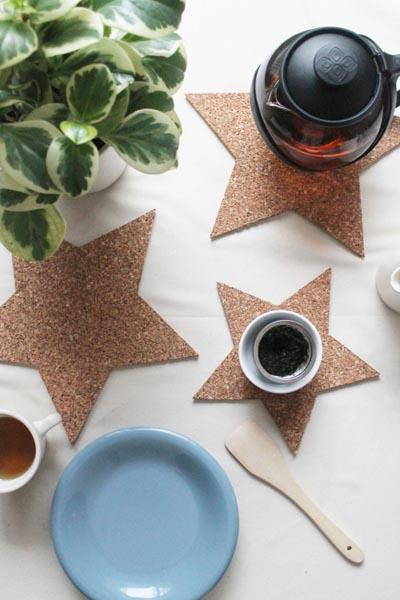 Handmade DIY Gifts For Mom: Easy Cork Trivets
