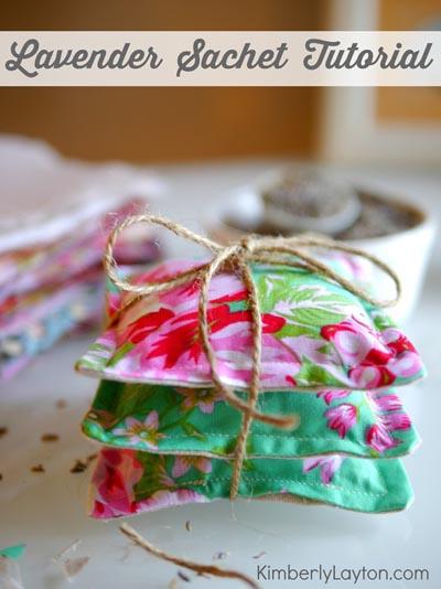 Handmade DIY Gifts For Mom: Lavender Sachets