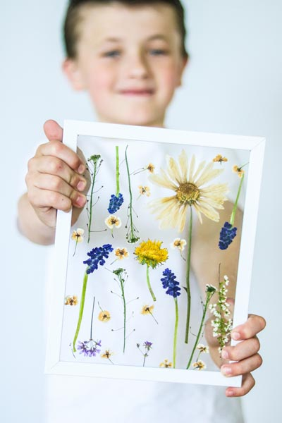 Handmade DIY Gifts For Mom: Pressed Flower Art