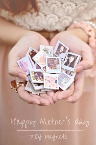 Handmade DIY Gifts For Mom: Tiny Photo Magnets