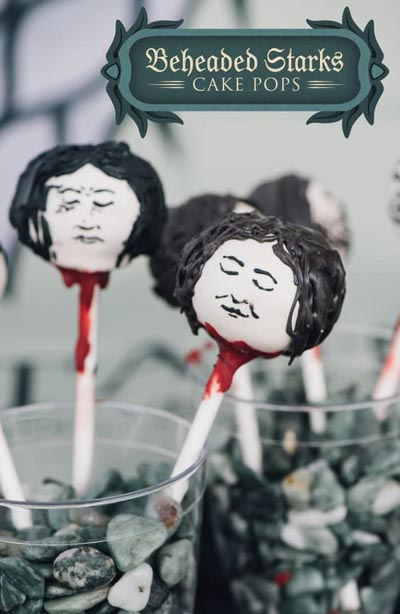 Game Of Thrones Recipes: Beheaded Starks Cake Pops