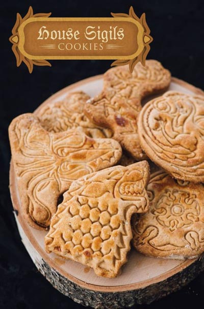 Game Of Thrones Recipes: House Sigil Cookies