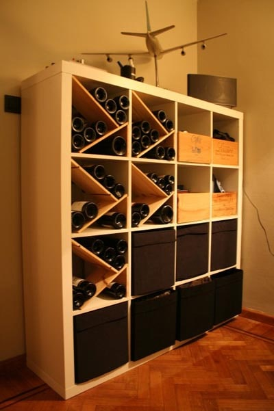 IKEA Kallax Hacks: IKEA EXPEDIT As Wine Storer