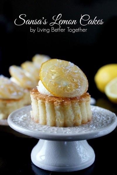 Game Of Thrones Recipes: Sansas Lemon Cakes