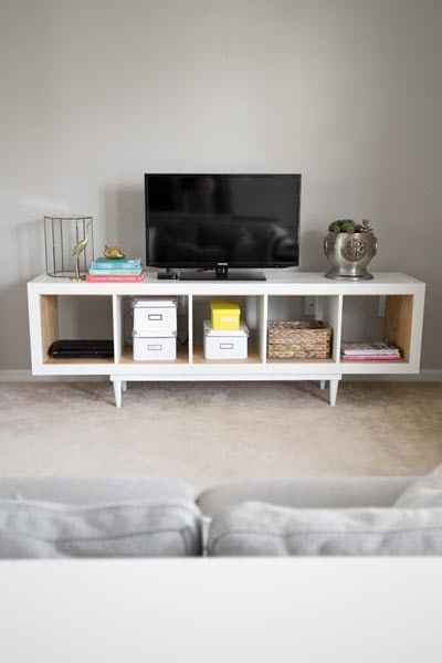 IKEA Kallax Hacks: Shelving Unit To TV Stand