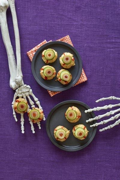 Halloween Party Appetizers: Bite-Size Eyeballs