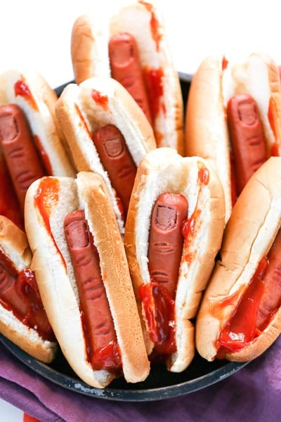 Halloween Party Appetizers: Bloody Finger Hot Dogs For Halloween