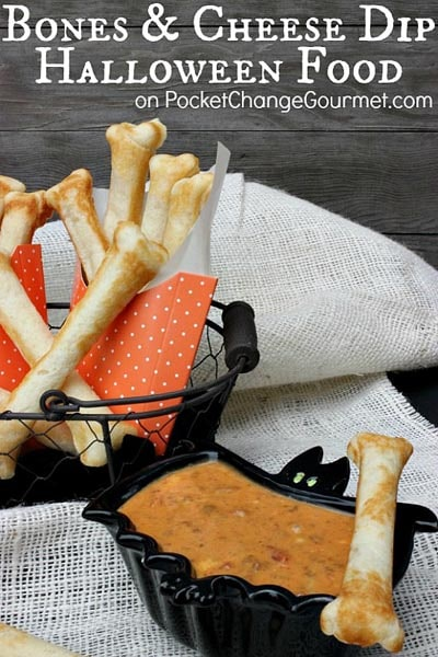 Halloween Party Appetizers: Bones and Cheese Dip