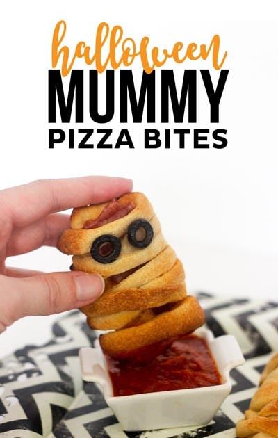 Halloween Party Appetizers: Halloween Mummy Pizza Bites