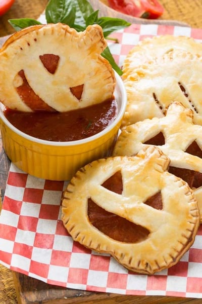 Halloween Party Appetizers: Pepperoni Pizza Pockets