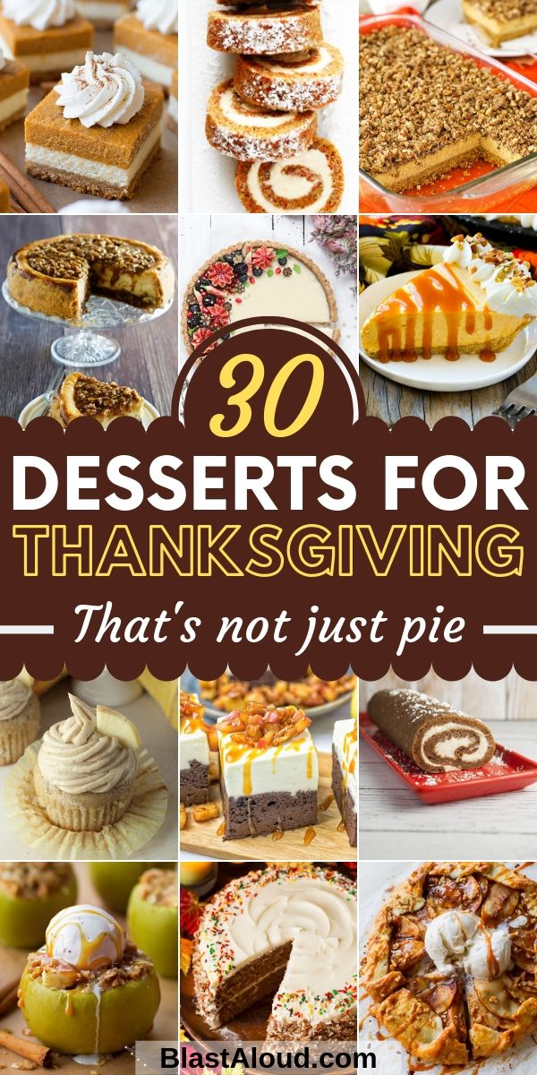 Easy Dessert Recipes For Thanksgiving that's not pie