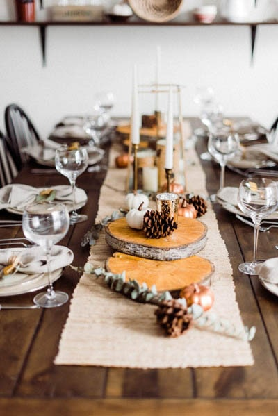 Easy DIY Thanksgiving table setting ideas: Elegant and Rustic Thanksgiving Table