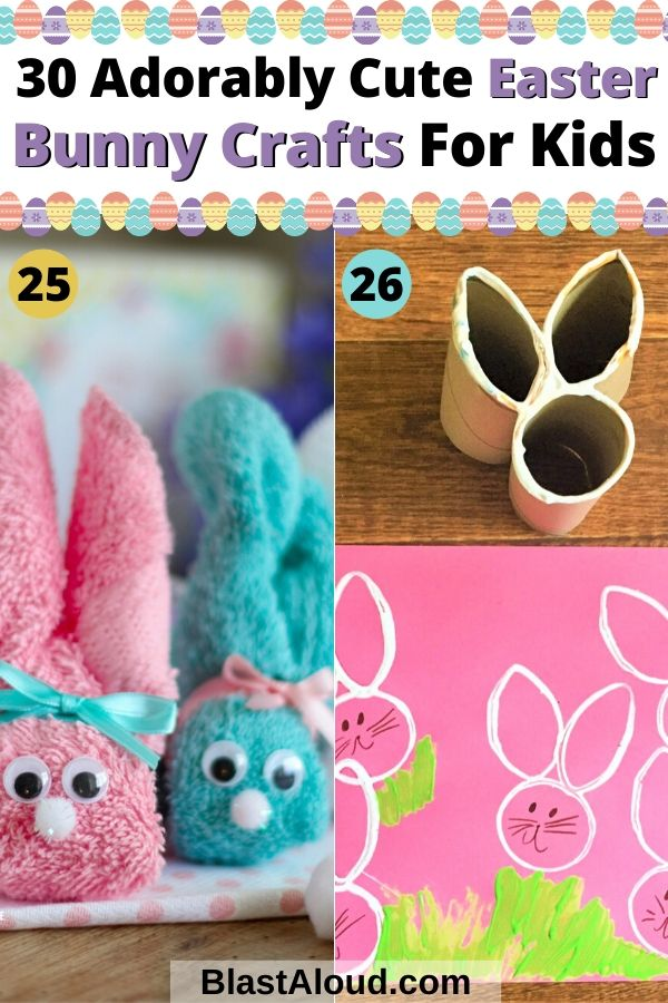 Adorably Cute Easter Bunny Crafts For Kids